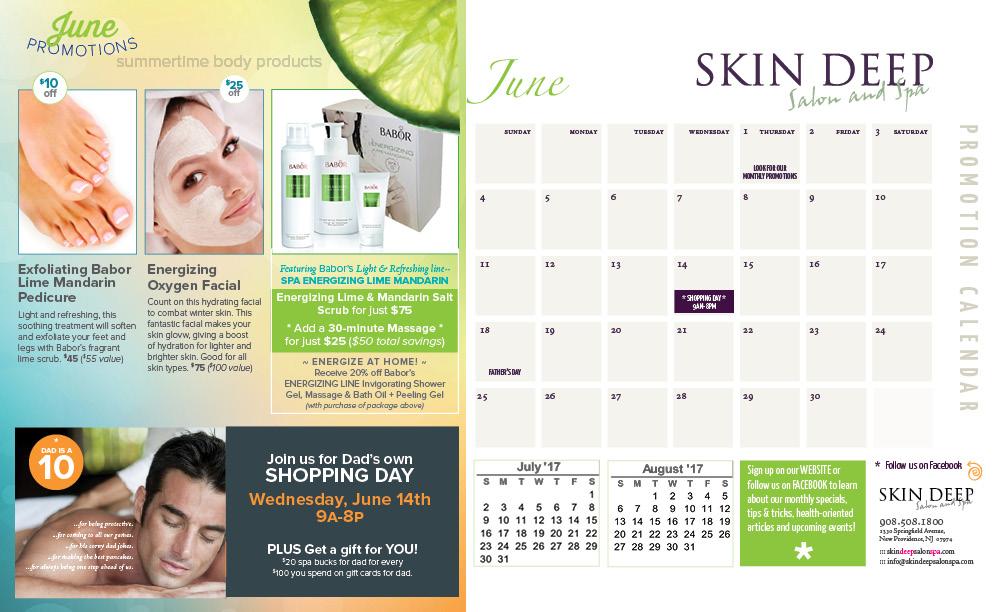 Skin Deep Salon Spa 2017-june-promo-calendar