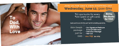 Dad's own SHOPPING DAY ~ Wednesday,June 12, 9am-8pm