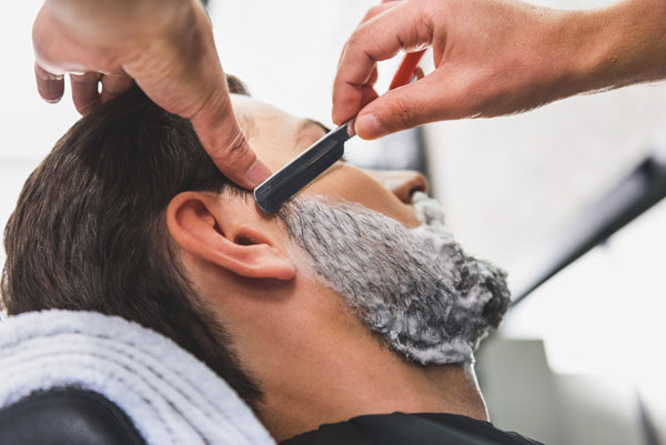 mens services facial shave clean up